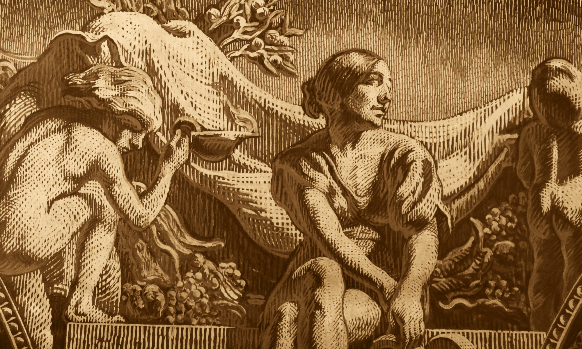 Détail de la fresque le Cortège d'Apollon de José Maria Sert © FSP/OLG